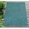 "Liora Manne Carmel Texture Stripe Indoor/Outdoor Rug Teal 7'10""X9'10"""