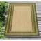 "Liora Manne Carmel Multi Border Indoor/Outdoor Rug Green 7'10""X9'10"""