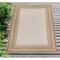 "Liora Manne Carmel Multi Border Indoor/Outdoor Rug Sand 7'10""X9'10"""