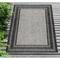"Liora Manne Carmel Multi Border Indoor/Outdoor Rug Black 7'10""X9'10"""