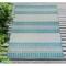 """Liora Manne Carmel Stripe Indoor/Outdoor Rug Aqua 7'10""""X9'10"""""""