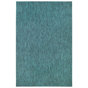 "Liora Manne Carmel Texture Stripe Indoor/Outdoor Rug Teal 8'10""X11'9"""