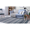 "Liora Manne Cosmos Gypsy Stripe Indoor/Outdoor Rug Grey 5'X7'6"""