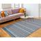 """Liora Manne Cosmos Gypsy Stripe Indoor/Outdoor Rug Blue 7'6""""X9'6"""""""