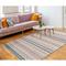 "Liora Manne Cosmos Gypsy Stripe Indoor/Outdoor Rug Pastel 7'6""X9'6"""