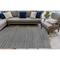 "Liora Manne Cove Chevron Stripe Indoor/Outdoor Rug Charcoal 7'10""X9'10"""
