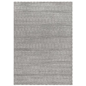 "Liora Manne Cove Diamond Stripe Indoor/Outdoor Rug Grey 7'10""X9'10"""