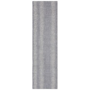 "Liora Manne Cyprus Ombre Stripe Indoor Rug Silver 24""X7'6"""
