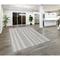 "Liora Manne Cyprus Ombre Stripe Indoor Rug Silver 7'6""X9'6"""