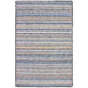 "Liora Manne Dakota Stripe Indoor/Outdoor Rug Navy 24""X36"""