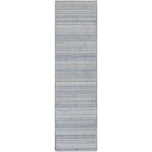 "Liora Manne Dakota Stripe Indoor/Outdoor Rug Blue 24""X8'"