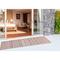 """Liora Manne Dakota Stripe Indoor/Outdoor Rug Brick 24""""X8'"""