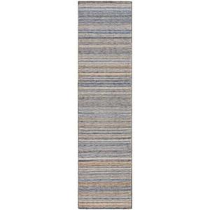"""Liora Manne Dakota Stripe Indoor/Outdoor Rug Navy 24""""X8'"""
