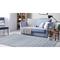 """Liora Manne Dakota Stripe Indoor/Outdoor Rug Blue 5'X7'6"""""""