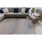 """Liora Manne Dakota Stripe Indoor/Outdoor Rug Navy 5'X7'6"""""""