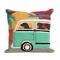 "Liora Manne Frontporch Beach Trip Indoor/Outdoor Pillow Sunset 18"" Square"