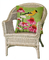 "Liora Manne Frontporch Goldfinch Indoor/Outdoor Pillow Green 18"" Square"