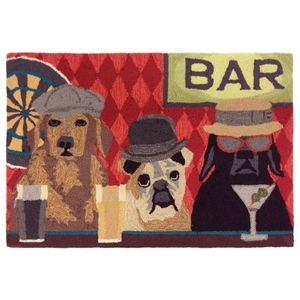 "Liora Manne Frontporch Bar Patrol Indoor/Outdoor Rug Port 20""X30"""