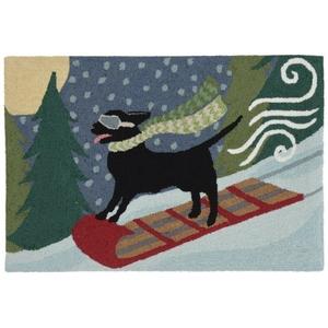 """Liora Manne Frontporch Toboggan Dog Indoor/Outdoor Rug Multi 20""""X30"""""""
