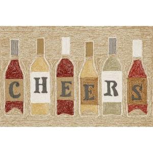 "Liora Manne Frontporch Cheers Indoor/Outdoor Rug Rose 24""X36"""