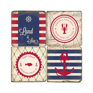 Maritime Coasters Set Of 4