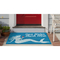 "Liora Manne Frontporch Save Water Drink Wine Indoor/Outdoor Rug Ocean 24""X36"""