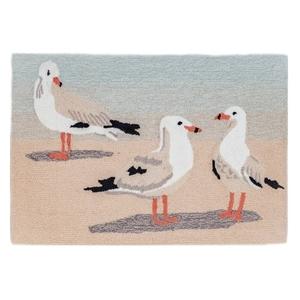 """Liora Manne Frontporch Gulls Indoor/Outdoor Rug Sand 24""""X36"""""""