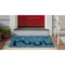 """Liora Manne Frontporch This Way To The Pool Indoor/Outdoor Rug Water 24""""X36"""""""