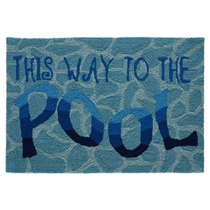 "Liora Manne Frontporch This Way To The Pool Indoor/Outdoor Rug Water 24""X36"""