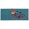 """Liora Manne Frontporch Bike Ride Indoor/Outdoor Rug Blue 24""""X60"""""""