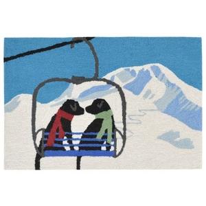 """Liora Manne Frontporch Ski Lift Love Indoor/Outdoor Rug Winter 30""""X48"""""""