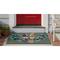 """Liora Manne Frontporch Festive Elves Indoor/Outdoor Rug Green 30""""X48"""""""