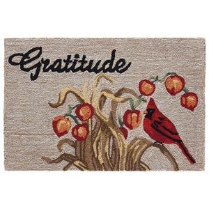 """Liora Manne Frontporch Gratitude Indoor/Outdoor Rug Neutral 30""""X48"""""""