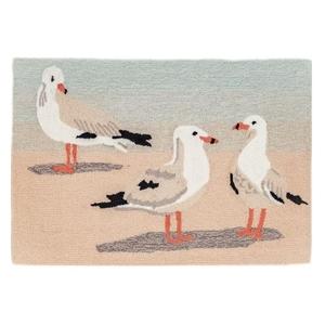 """Liora Manne Frontporch Gulls Indoor/Outdoor Rug Sand 30""""X48"""""""