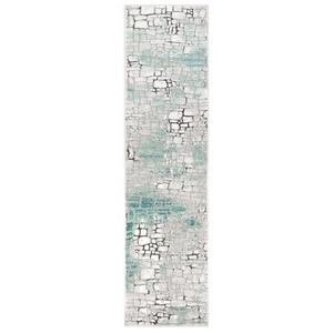 """Liora Manne Horizon Stones Indoor Rug Aqua 23""""X7'6"""""""