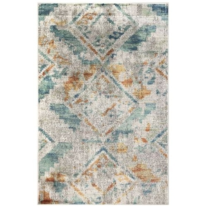 "Liora Manne Horizon Mosaic Diamond Indoor Rug Cool 4'10""X7'6"""