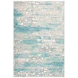"""Liora Manne Horizon Stones Indoor Rug Aqua 8'10""""X11'9"""""""