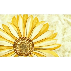 "Liora Manne Illusions Sunflower Indoor/Outdoor Mat Yellow 23""X35"""