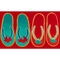 "Liora Manne Illusions Flip Flop Ombre Indoor/Outdoor Mat Red 23""X35"""