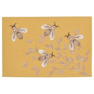 "Liora Manne Illusions Bees Indoor/Outdoor Mat Honey 23""X35"""