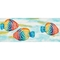 "Liora Manne Illusions Rainbow Fish Indoor/Outdoor Mat Pearl 23""X59"""
