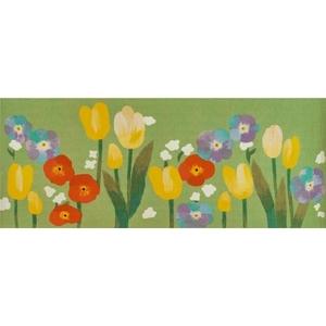 "Liora Manne Illusions Le Jardin Indoor/Outdoor Mat Green 23""X59"""