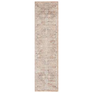 "Liora Manne Lotus Tribal Indoor Rug Beige 23""X8'"