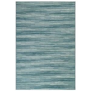 "Liora Manne Marina Stripes Indoor/Outdoor Rug Aqua 23""X7'6"""
