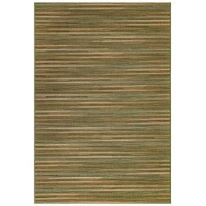 "Liora Manne Marina Stripes Indoor/Outdoor Rug Green 23""X7'6"""