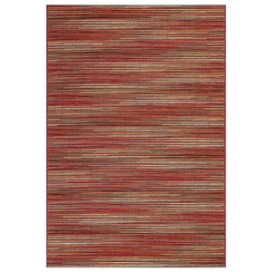 """Liora Manne Marina Stripes Indoor/Outdoor Rug Saffron 23""""X7'6"""""""