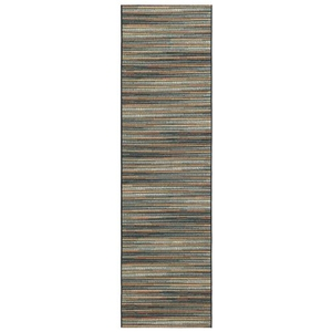 "Liora Manne Marina Stripes Indoor/Outdoor Rug Blue/Multi 23""X7'6"""