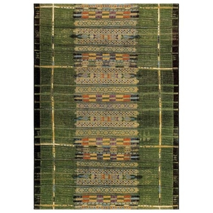 "Liora Manne Marina Tribal Stripe Indoor/Outdoor Rug Green 23""X7'6"""