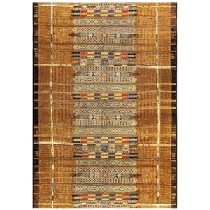 "Liora Manne Marina Tribal Stripe Indoor/Outdoor Rug Gold 23""X7'6"""