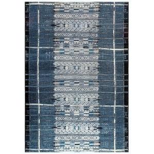 """Liora Manne Marina Tribal Stripe Indoor/Outdoor Rug Denim 23""""X7'6"""""""